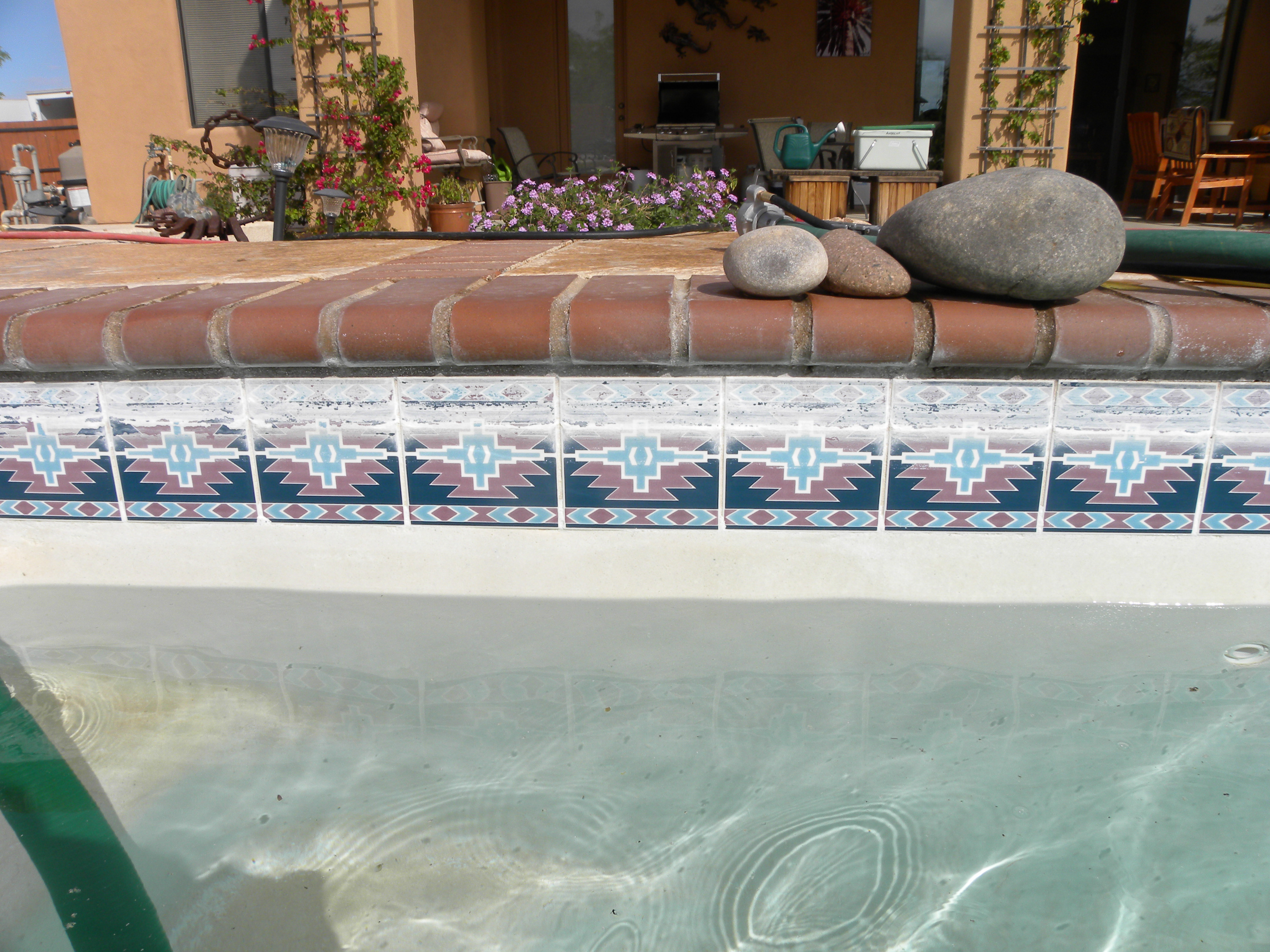 Pool Tile Cleaning Before